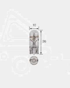 Narva 17177 Premium Wedge Globe 12V 5W T-10mm W2.1 x 9.5d (Box of 10)
