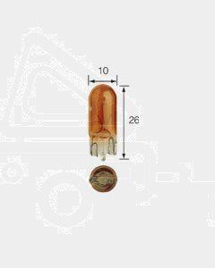Narva 17169 Premium Wedge Globe 12V 5W Amber T-10mm W2.1 x 9.5d (Box of 10)