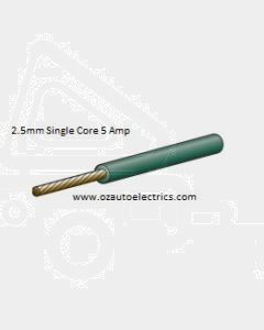 Narva 5812-30GN Green Single Core Cable 2.5mm (30m Roll)