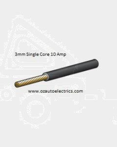 Narva 5813-30BK Black Single Core Cable 3mm (30m roll)
