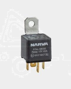 Narva 68000BL 12V 40Amp 4 Pin Normal Open Relay