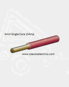 Red Single Core Cable 4mm - Cut to Length