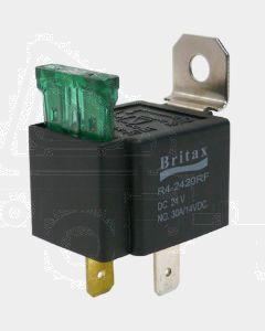 Britax Mini Relay 24V 30amp N/O 4 Pin with Blade Fuse Resistor