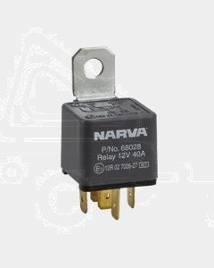 Narva 12V 40 Amp 5 Pin Diode Protected Normal Open Relay