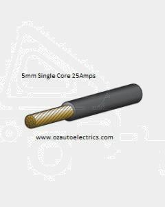 Narva 5815-30BK Black Single Core Cable 5mm (30m Roll)