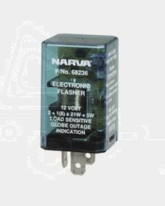 Narva 68236BL 12 Volt 3 Pin Electronic Flasher - Blister Pack