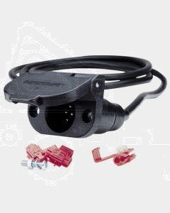 Narva 82025BL 7 Pin Small Round Plastic Trailer Socket Kit