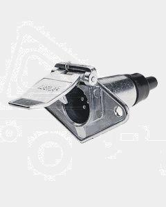 Narva 82033BL 6 Pin Small Round Metal Trailer Socket