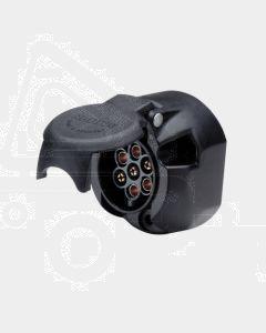 Narva 82052BL 7 Pin Large Round Plastic Trailer Socket