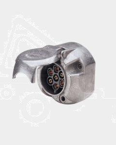 Narva 82062BL 7 Pin Large Round Metal Trailer Socket