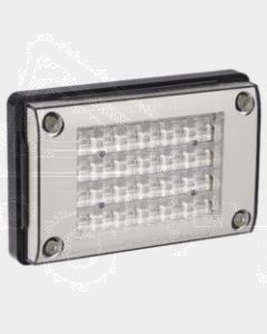 Narva 94836H 9-33 Volt L.E.D Reverse Lamp (White) for Horizontal Mounting with 0.5m Cable, Black Housing and Security Caps