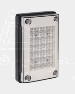 Narva 94836V 9-33 Volt L.E.D Reverse Lamp (White)for Vertical Mounting with 0.5m Cable, Black Housing and Security Caps