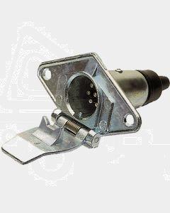 Britax 7 Pin Small Round Metal Trailer Socket