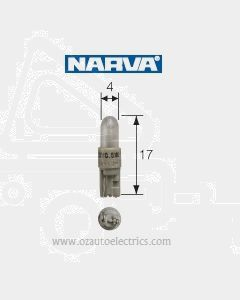 Narva 47702 Dash Panel Globe 12V 1.2W KW2 x 4.6d Base, White (Box of 10)