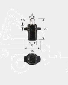 Narva 47724 Dash Panel Globe 12V 1.2W B8.3d Black (BAX 10s) Base (Box of 10)