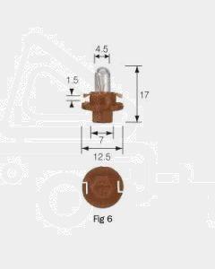 Narva 47748 Dash Panel Globe 12V 1.5W BX8.4d Beige Base (Box of 10)