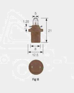 Narva 47786 Dash Panel Globe 24V 1.2W BX8.5d Brown (Box of 10)