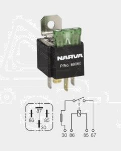 Narva 68060BL 12V 30 Amp 4 Pin Fused Relay
