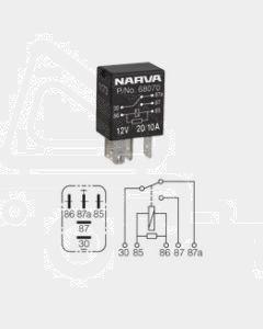 Narva 68070BL 12V 20/10 Amp 5 Pin Micro Change-Over Relay Resistor Protection