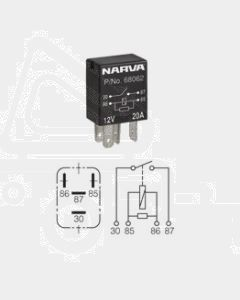 Narva 68062BL 12V 20Amp 4 Pin Micro Normal Open Relay Resistor Protection