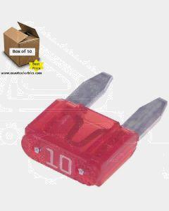 Narva 52710 Mini Blade Fuses - 10Amp (Box of 50)