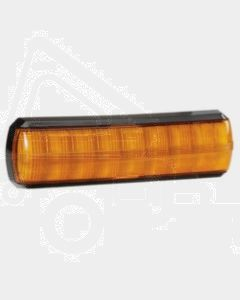 Narva 93814BL 10-30 Volt L.E.D Slimline Rear Direction Indicator Lamp (Amber) with 0.5m Hard-Wired Cable and Black Base (Blister Pack)