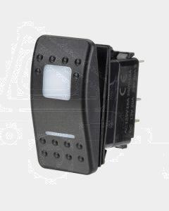 Narva 63165BL 12-24V Off / Momentary On Sealed LED Rocker Switch (Blue)