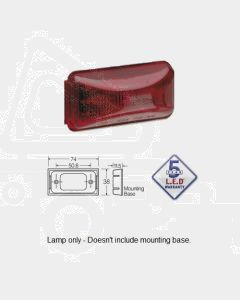 Narva 91566 12 Volt Red L.E.D Marker Lamp