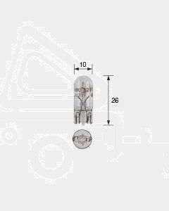 Narva 47501 Wedge Globe 12V 5W T-10mm (Box of 10)