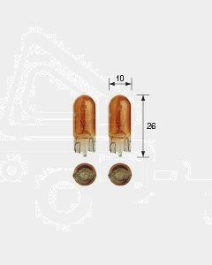 Narva 47510BL Wedge Globe12V 5W/Amber T-10mm (2)