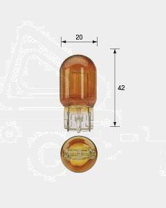 Narva 47532BL Wedge Globe 12V 21W/Amber T-20mm Blister (2)