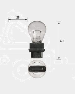 Narva 47555BL Wedge Globe 12V 27W W2.5 x 16d Blister (2)