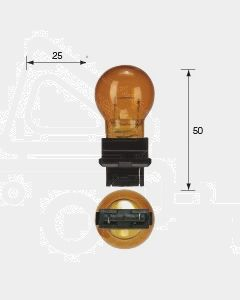 Narva 47556 Wedge Globe 12V 27W Amber W2.5 x 16d (Box of 10)