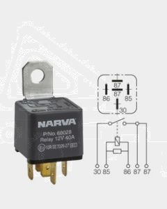 Narva 68036BL 24V 30 Amp 5 Pin Normal Open Relay Resistor Protected