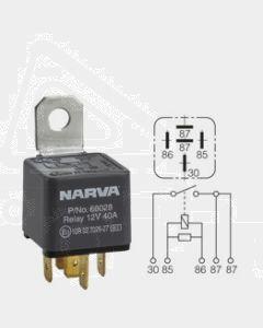 Narva 68028BL 12V 40 Amp 5 Pin Normal Open Relay Resistor Protected