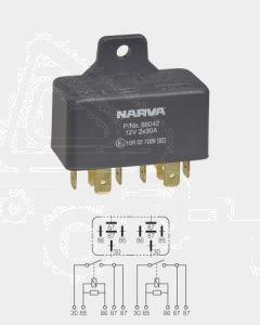 Narva 68042 12V 30/30 Amp 5/5 Pin Twin Normal Open Relay